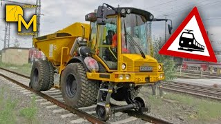 DUMP TRUCK ON RAILWAY TRACKS # HYDREMA SPECIAL CONSTRUCTION MACHINE