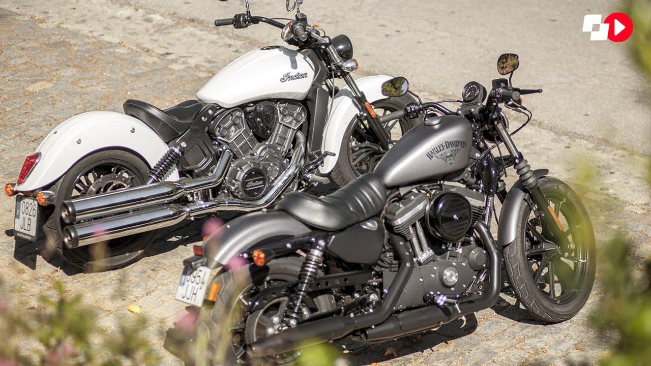 Harley Davidson Indian: COMPARATIVA: HARLEY DAVIDSON SPORTSTER 883 IRON / INDIAN