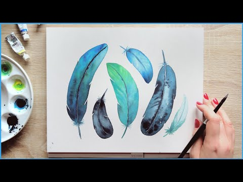 Painting Ideas For Beginners How To Paint Feathers Makoccino