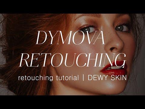 Блики на коже   Dewy Skin Tutorial   Dymova Retouching