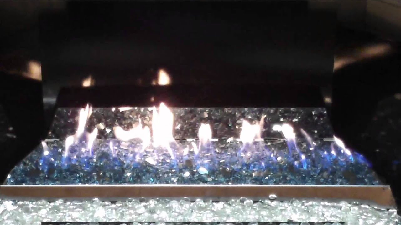 peterson real fyre g21 vent free glass fireplace burner youtube