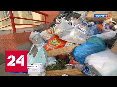 В Химках жители закидали мусором офис УК, переставшей платить дворникам - Россия 24