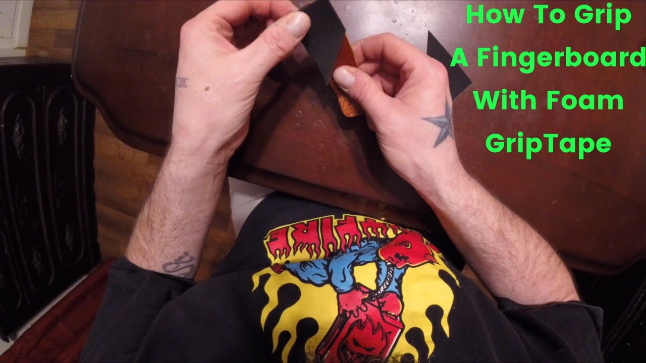 how to put griptape on a fingerboard