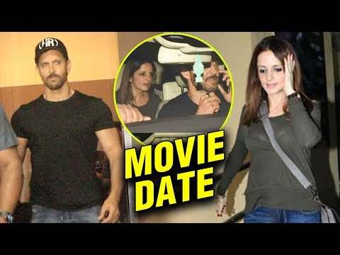 Hrithik Roshan With Ex Wife Sussanne And Kids On A Movie Date