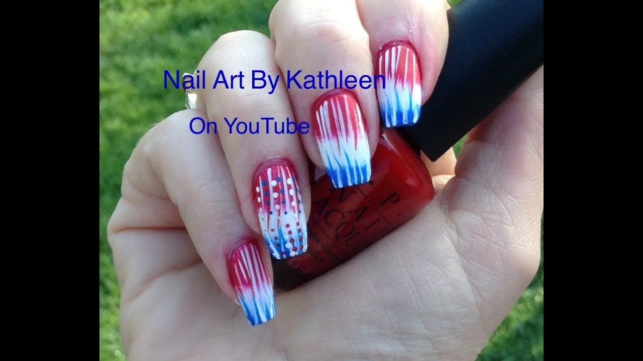 DIY Easy Gradient American Flag Nail Art Design - DIY Easy Gradient American Flag Nail Art Design - YouTube