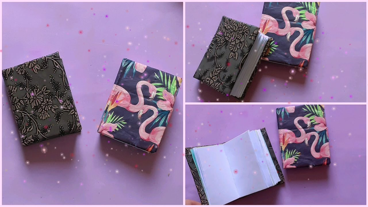 How To Make a Mini Notebook | Paper Crafts