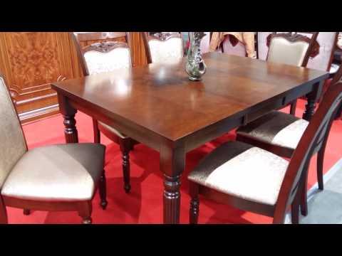 Стол обеденный деревянный для гостиной. Стол обеденный деревянный Прага + стулья Прага.