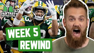 Fantasy Football 2019 - Week 5 Studs & Stinkers + Weekly Rewind, Kerplunk! - Ep. #790