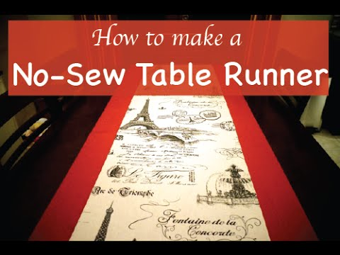easy no sew table runner youtube. Black Bedroom Furniture Sets. Home Design Ideas