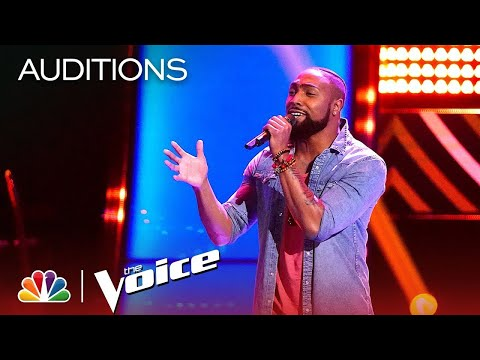 """The Voice 2019 Blind Auditions - Denton Arnell: """"Hold On, We're Going Home"""""""
