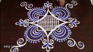 latest color padi kolam rangoli designs with 5 dots * easy & simple muggulu