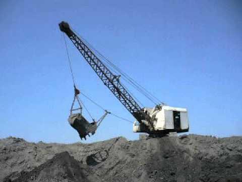 Old soviet cable dragline excavator EO-4111