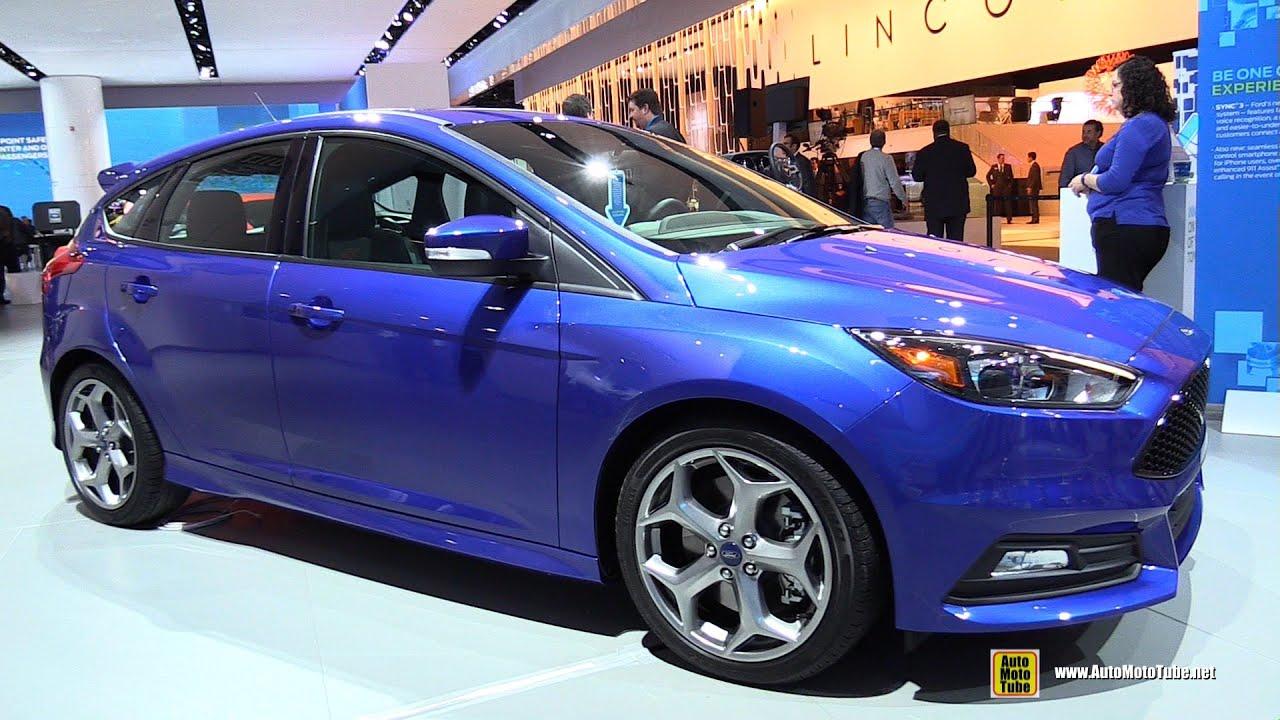 2015 ford focus st exterior and interior walkaround 2015 detroit auto show youtube
