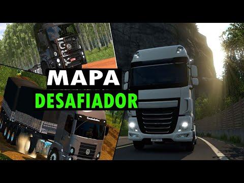 MAIOR MAPA GRATIS PARA  (EURO TRUCK -2 1.38) ESTRADAS DE TERRA, RIOS,E MUITOS DESAFIOS