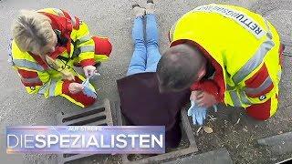 Verrückt! Frau steckt kopfüber im Gulli | Die Spezialisten | SAT.1 TV
