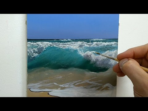 How to paint a seascape oil painting tutorial youtube for Acrylic mural painting techniques