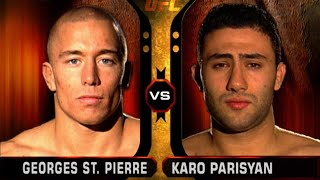 UFC Debut: Georges St-Pierre vs Karo Parisyan | Free Fight