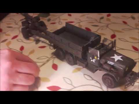 1/35 scale, US Army, M54 five-ton truck - with working, all-wheel drive