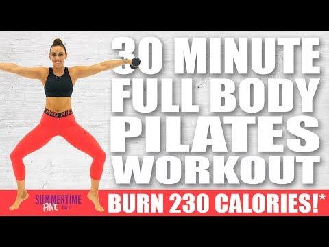 30 Minute FULL BODY PILATES WORKOUT 🔥 Burn 230 Calories!* 🔥 Sydney Cummings