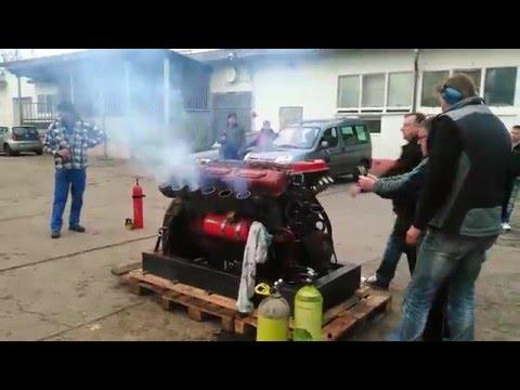 1.Start V12 Diesel Panzermotor Tank Engine 39l Hub, 580PS