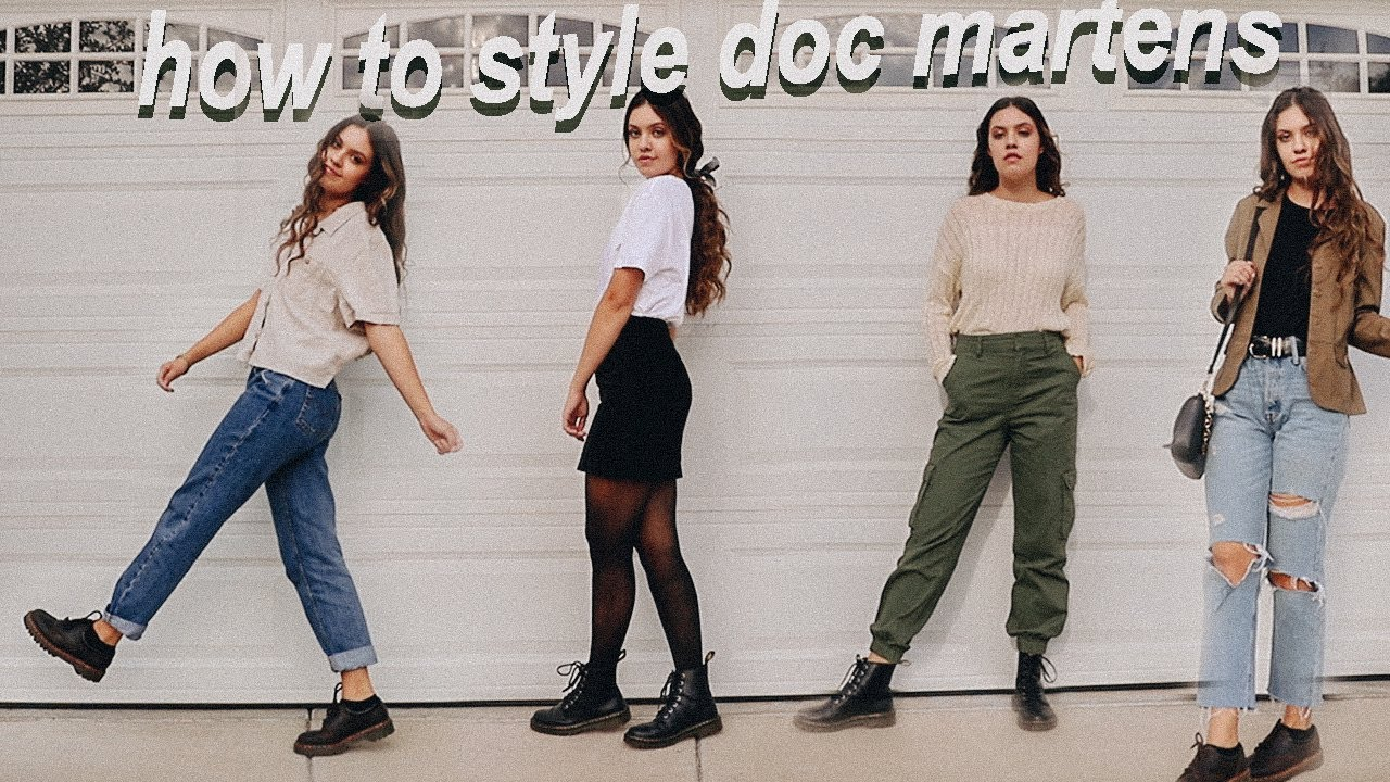 how to style doc martens ! // fall lookbook & outfit ideas 24