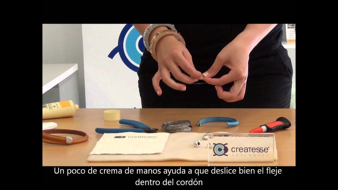 hacer pulseras cuero
