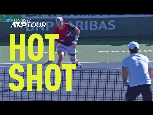 Hot Shot: Isner's Incredible Burst Of Speed In Indian Wells 2019