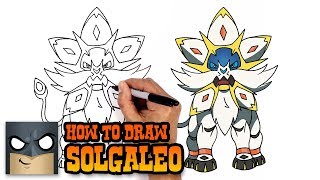 How to Draw Solgaleo | Pokemon (Art Tutorial)