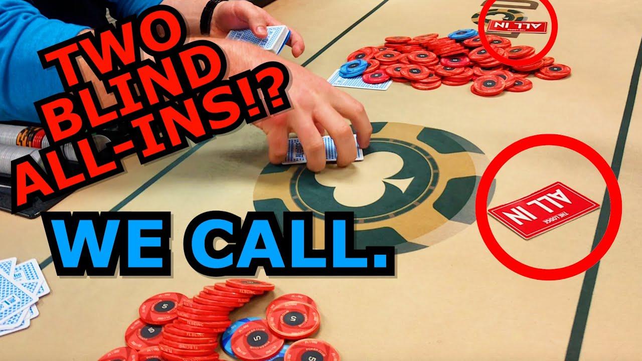 3-WAY BLIND ALL-IN!!! (INSANE PART 1) - Poker Vlog 55