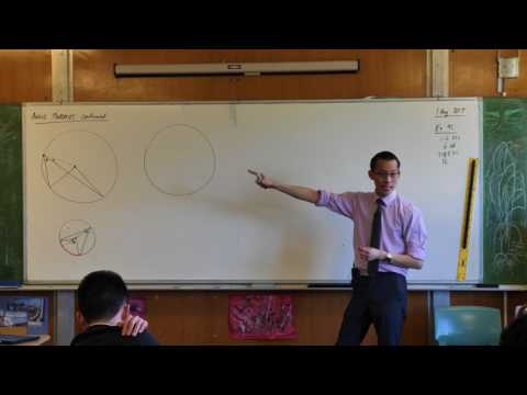 Angle Properties - Circle Geometry (Second proof of angle at the centre/circumference)