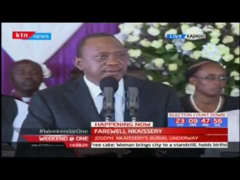 President Uhuru Kenyatta remembers the late Interior CS Joseph Nkaissery as an honest man