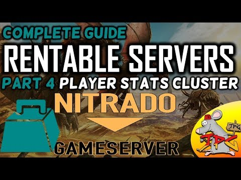 Ark complete guide to hosting nitrado servers part 4 Player stats (Weight!) settings ark cluster