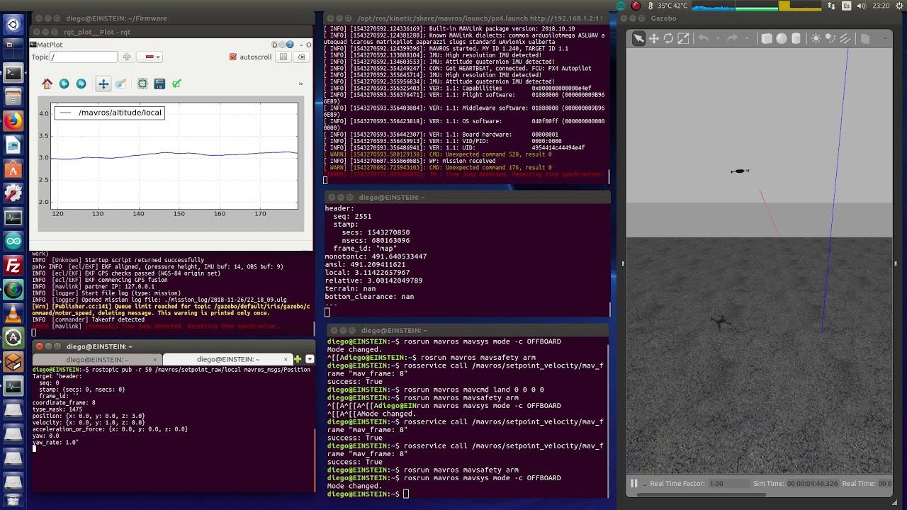 MavROS + PX4 SITL/Gazebo  Using /setpoint_raw/local with Iris drone