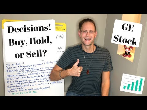 GE STOCK PRICE IS TANKING: WHAT WOULD I DO? (Buy, Hold, or Sell - Dividend Investing Style)