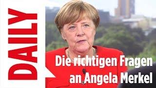 Die richtigen Fragen an Angela Merkel -Dieseskandal - BILD Daily Spezial 21.08.2017