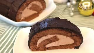 Chocolate Log / Chocolate Cake Roll 巧克力蛋糕卷
