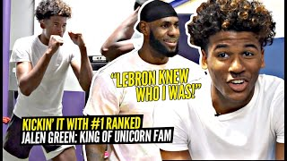 """LeBron Knew Who I Was!!"" Jalen Green Shows Us How He Became a UNICORN!! All Access w/ The #1 Player"