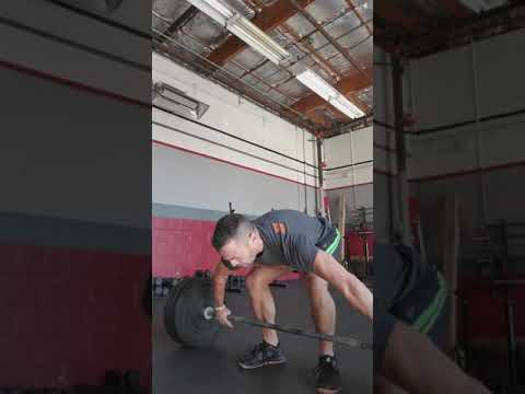 Pause snatch from lift off 1*1*4 @165 set 3