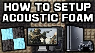 Setting Up Sound Proof Acoustic Foam For Gaming Room!