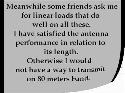 80 meters band Linear Loaded Dipole antenna wmv