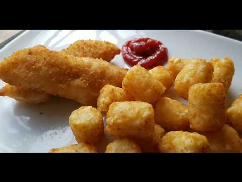 Air Fryer Fun+Tasty #11: Perfect Fish (Sticks) And Chips (Tater Tots) In 14 Mins!