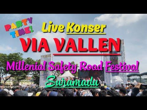 LIVE KONSER | VIA VALLEN | SURAMADU | MILLENIAL | SAFETY ROAD FESTIVAL