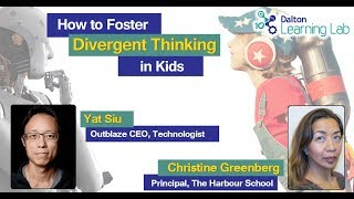 Dalton Learning Lab presents: How to foster divergent thinking in kids (May 24, 2018)