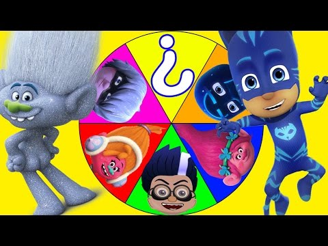 Trolls Poppy Game with PJ Masks Romeo, Paw Patrol Marshall, Peppa Pig, In Real Life Toys