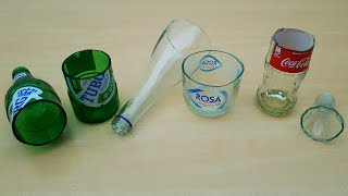 How to cut glass bottle?