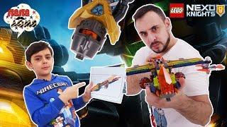 Папа Роб и Ярик ФИНАЛЬНАЯ сборка LEGO NEXO KNIGHTS Аэро арбалет Аарона