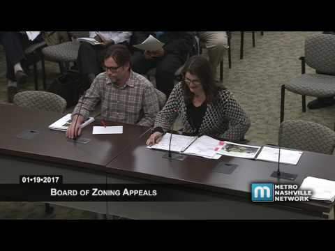 01/19/17 Board of Zoning Appeals Meeting