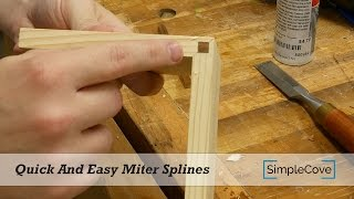 Miter joints are weak unless you reinforce them with miter keys or miter splines. In this video I show you a quick and easy way to add