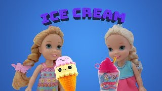 Elsa and Anna toddlers at the ice cream parlor