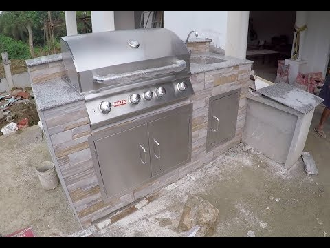 VILLA FELI -  EPISODE 216: HOW TO BUILD A BBQ GRILL (House Building in the Philippines)